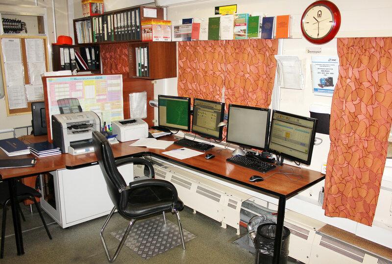 Рабочее место дефектоскописта в Диагностическом комплексе Интеграл