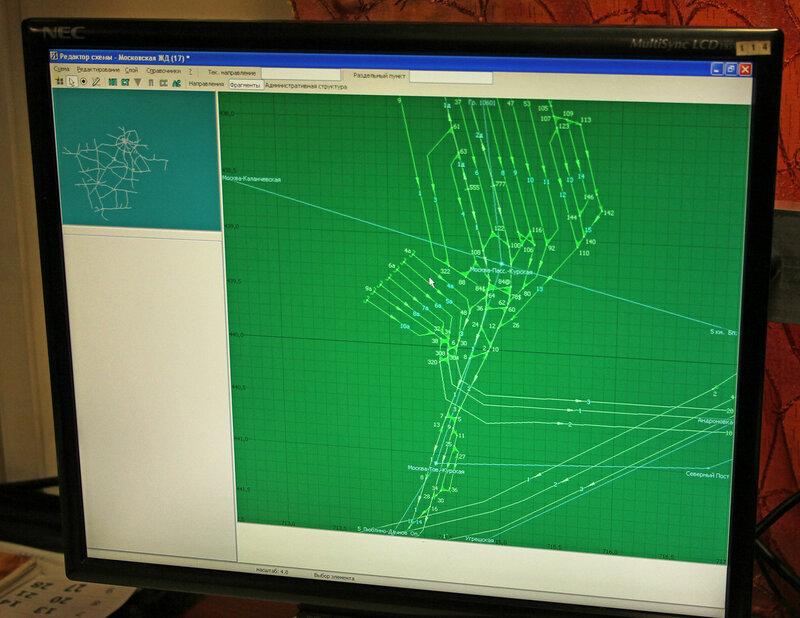 Карта-схема путей на Курском вокзале
