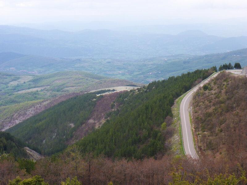 дорога из копаоника в рашку в горах