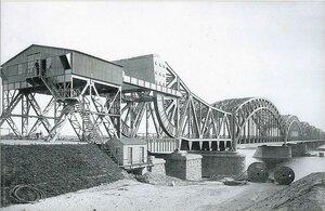 Железнодорожный мост через Даугаву. 1914