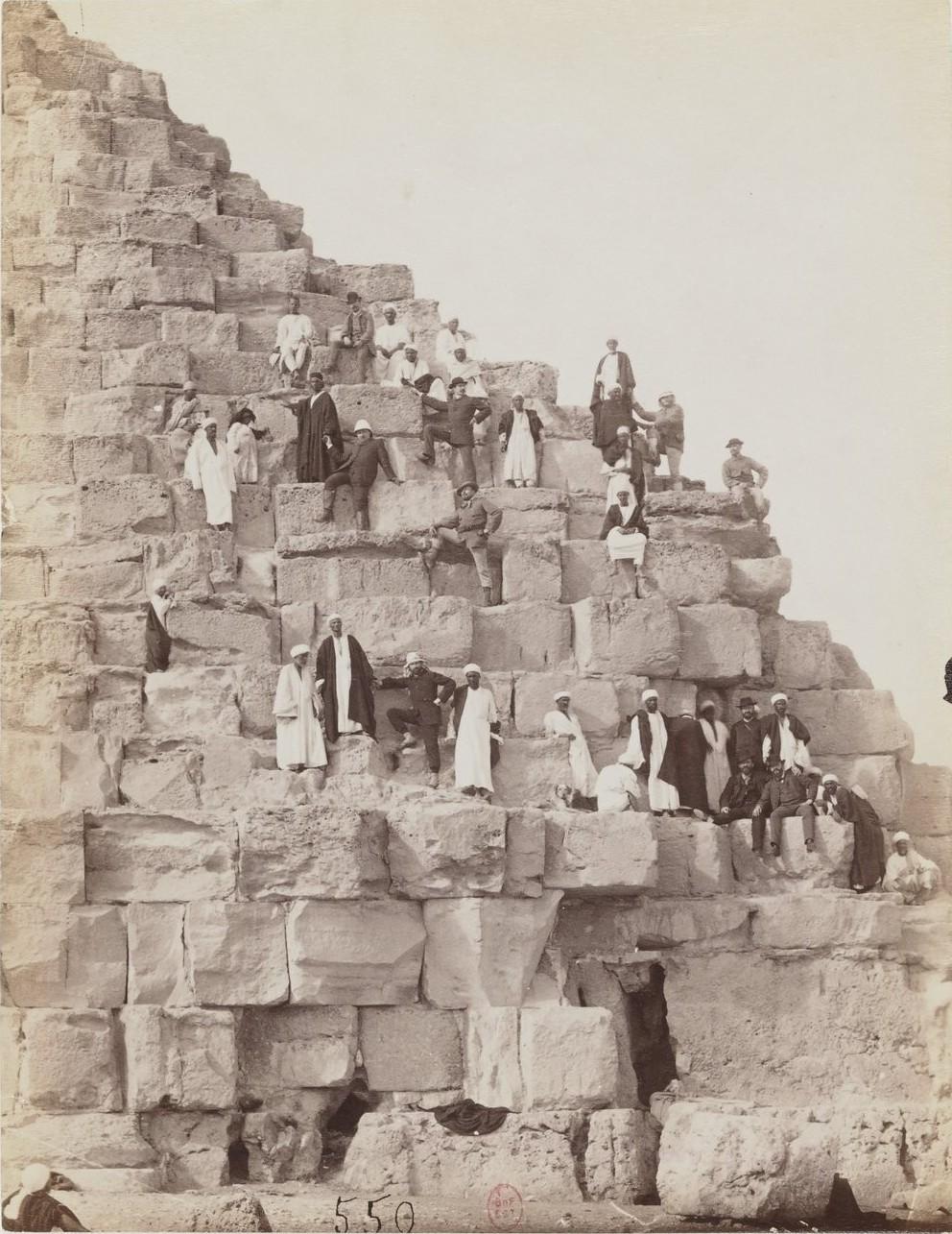 Гиза. Восхождение на пирамиду