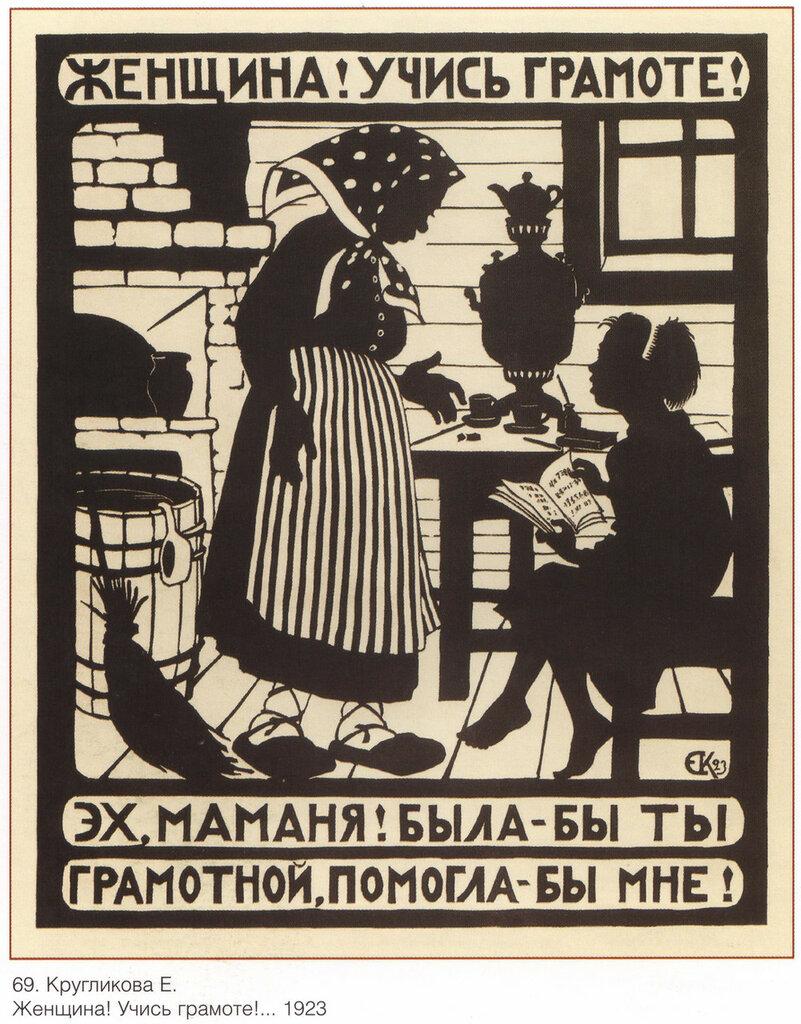 Образ женщины на советском плакате
