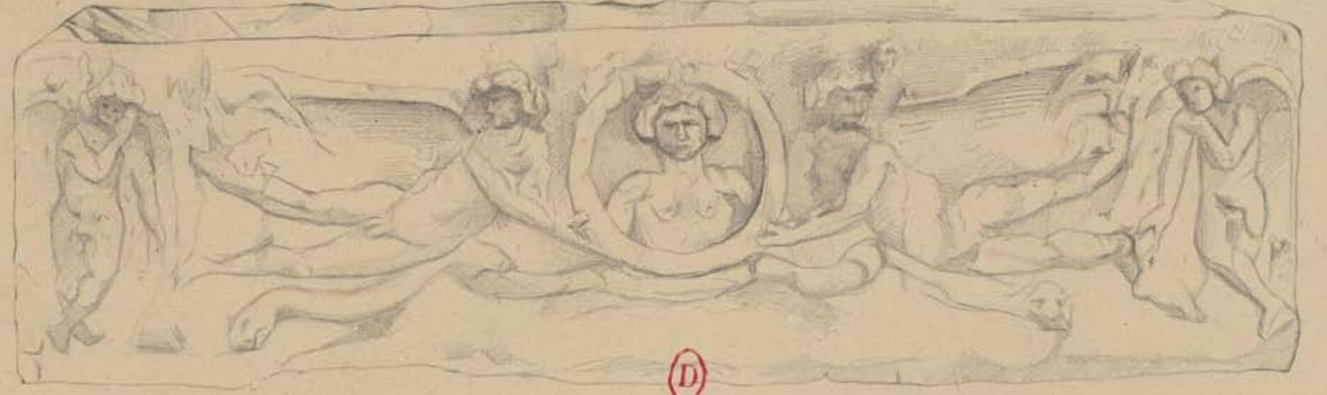 Карфаген. Резной саркофаг (прорисовка)