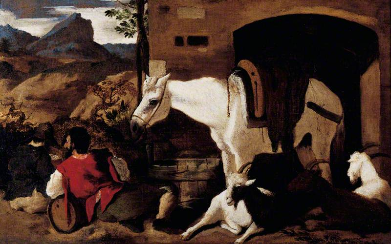 Horse and Horseman Resting