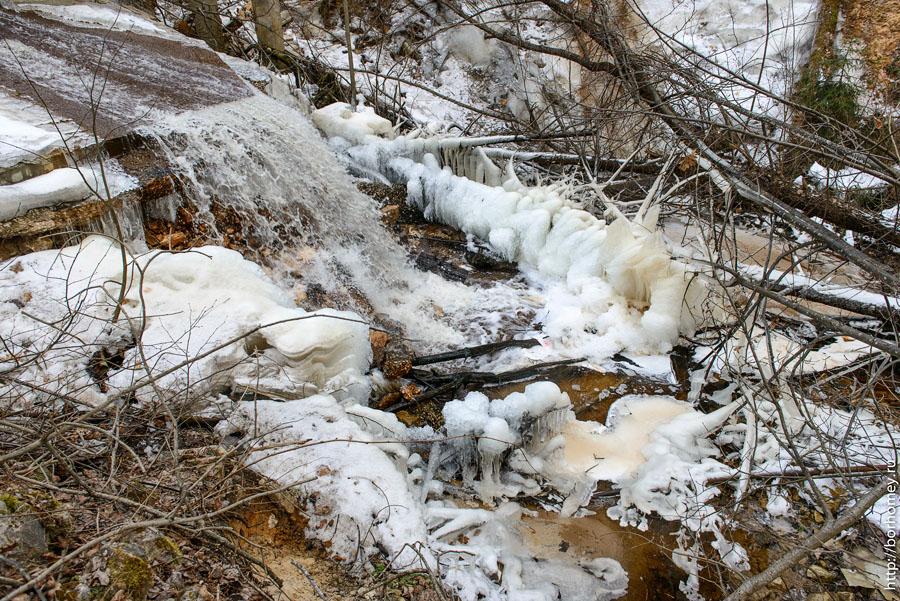 лед намерз у воды