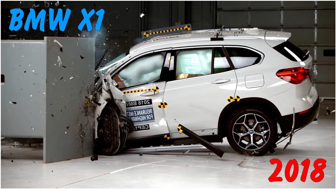 Фронтальный краш тест BMW X1 2018