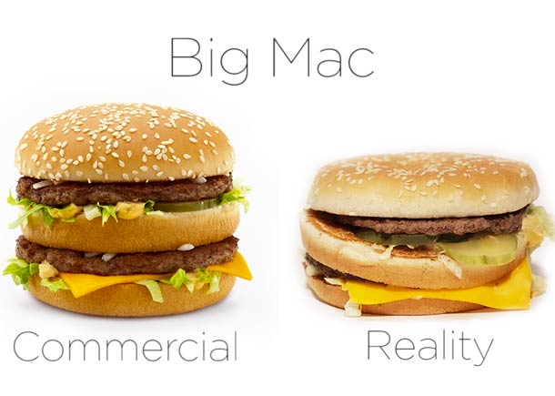 McDonald's – Comparing advertising and reality (7 pics)