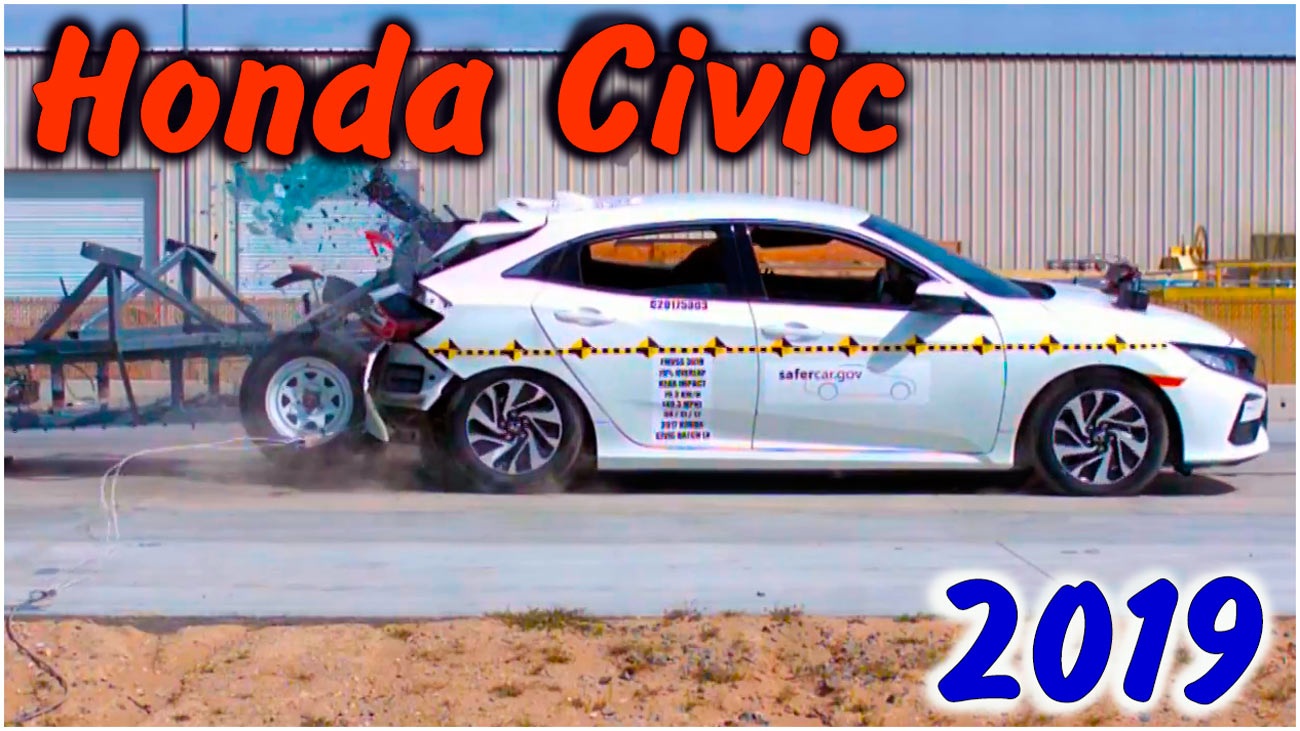 Задний краш-тест Honda Civic 2019