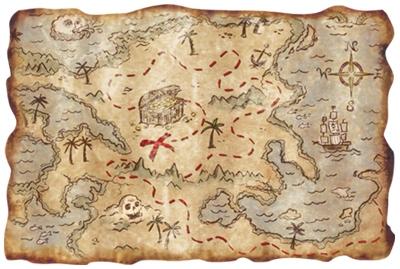 Картинки. День работников геодезии и картографии. Карта для поиска ценностей