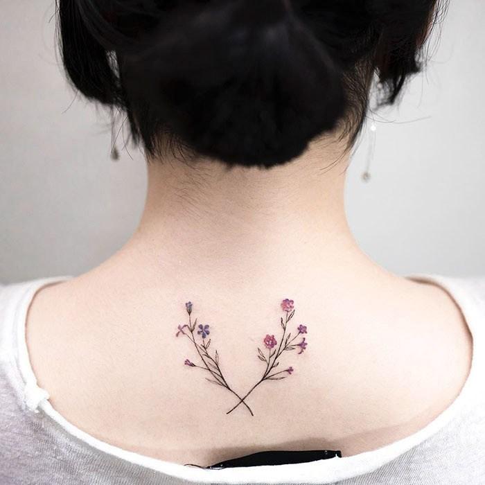 A delicadeza nas tatuagens do artista Sul Coreano Hongdam