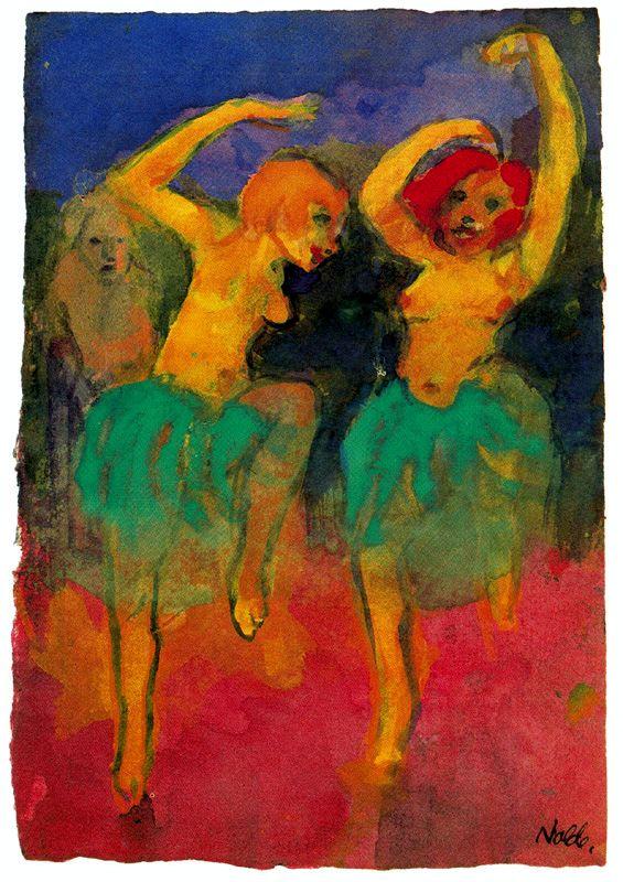 Две танцовщицы Эмиль Нольде(1867-1956)