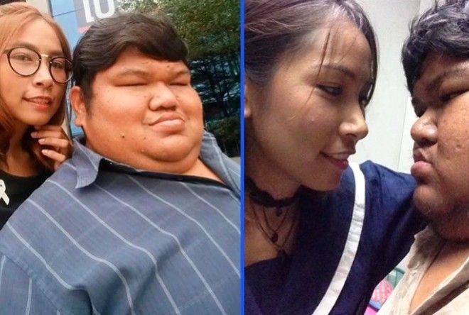 Любовь 120-килограммового тайца и его девушки вызвала недоумение в Сети (9 фото)