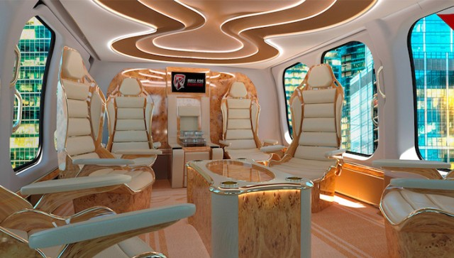 Helicopter Luxurious Interior (6 pics)
